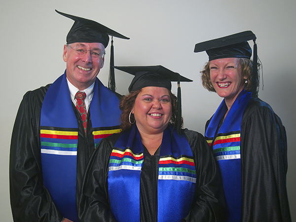 L to R: Ken Smithson, Bettina Addo and Leeanne Griffiths