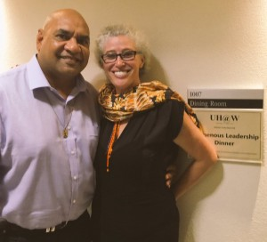 Catching up with family, Professor Kerry Arabena at The University of Melbourne, Indigenous PhD Familiarisation Program.